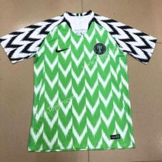 2018 World Cup Nigeria Home White and Green Thailand Soccer Jersey AAA
