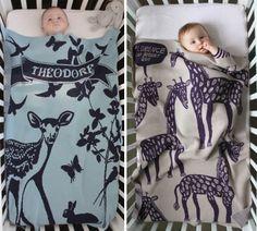 mantas infantiles personalizadas Mantas para bebés con su nombre