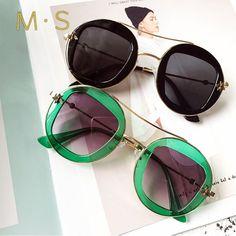 MS 2018 New Female Sunglasses Brand Designer Sunglasses Summer Sun Glasses Fashion Women Luxury Decoration Classic Eyewear Summer Sunglasses, Stylish Sunglasses, Cat Eye Sunglasses, Round Sunglasses, Sunglasses Women, Fashion Women, Eyewear, Ms, Female