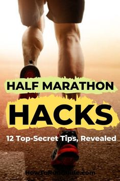 Want to make your next half marathon easier? Read these 12 genius half marathon hacks and miles will be a breeze. Running Humor, Running Workouts, Running Tips, Running Race, Disney Running, Running Songs, Half Marathon Tips, Half Marathon Training, Half Marathons