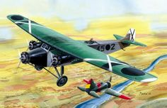 Fokker FVIIb under attack by a Rata
