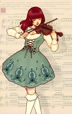 violinist by yasahime on deviantart....This is so Irish to me! I love it!!