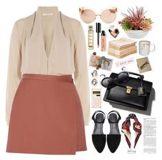 2383. Actually. I can. by chocolatepumma on Polyvore featuring polyvore fashion style Etro Theory Linda Farrow Gucci Bobbi Brown Cosmetics HUGO Gold Eagle Rimmel clothing
