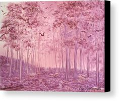 Pink Woods Metal Print by Faye Anastasopoulou. All metal prints are professionally printed, packaged, and shipped within 3 - 4 business days and delivered ready-to-hang on your wall. Wood Canvas, Canvas Art, Wall Art Prints, Canvas Prints, Fine Art Posters, Thing 1, Art For Sale Online, Artwork Images, Realism Art