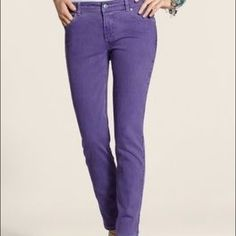 Purple jeans Worn once. Like new! First pic shows true color Chico's Jeans Straight Leg Purple Jeans, Mom Jeans, Skinny Jeans, All Things Purple, Ankle Jeans, Fashion Design, Fashion Trends, My Style, Pants