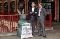 Rabbit shaped litter bin, designed by Paul Smith for the streets of London.  It's ears light up when you throw trash in the bag.  I think I need one of these.  Ha!
