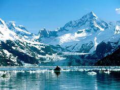 Kayak tours among glaciers & humpback whales in the Alaska wilderness. Join a sea kayaking adventure trip to the rainforests of southeast Alaska. Glacier Bay National Park, National Parks, Dream Vacations, Vacation Spots, Vacation Deals, Alaska Wallpaper, View Wallpaper, Wallpaper Pictures, Wallpaper Desktop