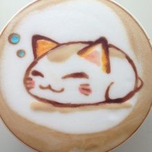 Gattuccino? - Nemuneko Is so cute Latte Cute Coffee Art.  ❤