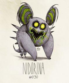 Nidorina #030  (Tim Burton Inspired Pokemon Re-Design)