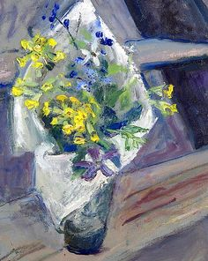Margaret Thomas (British, born 1916) 'The cowslips'