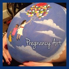 Beautiful family bump paint By Cassandra Stephens at Pregnancy Art