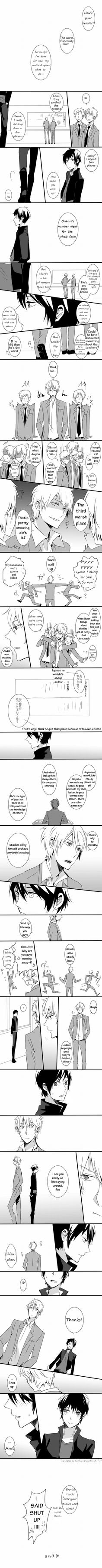 aww shizu-chan helping izaya AND DID I JUST SAW IZAYA OFFERING HELP TO SHIZU-CHAN