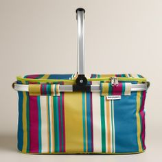 Thai Stripe Insulated Collapsible Tote | World Market