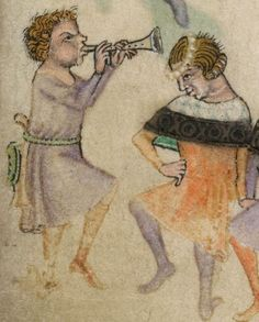 Detail from The Luttrell Psalter, British Library Add MS 42130 (medieval (Illuminated manuscript close up). Medieval Games, Medieval Music, Medieval World, Medieval Art, Ancient Music, Medieval Manuscript, Illuminated Manuscript, Renaissance Music, Medieval Tapestry