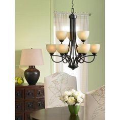 Franklin Iron Works Bennington Collection 9-Light Chandelier | LampsPlus.com
