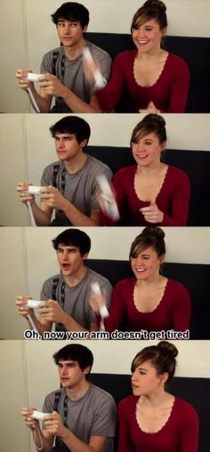 She only plays with one of his wiis. Hahaha!