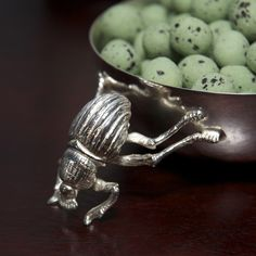 A classic silver Snack Bowl with gorgeous Dung Beetle detail. The perfect gift for any occasion, delivered anywhere within South Africa. Snack Bowls, Beetle, Silver Plate, Plating, Christmas Gifts, Snacks, Gift Ideas, June Bug, Xmas Gifts