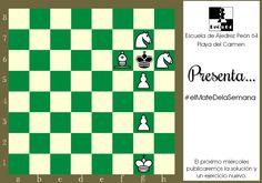 #elMatedelaSemana de hoy, es un ejercicio creado por la compositora Mrs. W. J. Baird. Mate en 2, blancas juegan y ganan.