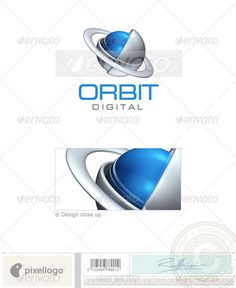 Communications Logo  3D389 — Photoshop PSD #globe #communications • Available here → https://graphicriver.net/item/communications-logo-3d389/496557?ref=pxcr
