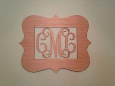 Monogramma di legno grande telaio con di CustomCutMonograms, $26.00
