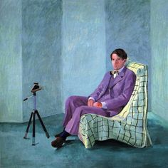 David Hockney, Peter Schlesinger with Polaroid Camera, 1977, il on canvas