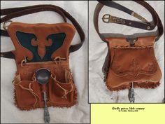 Girdle purse 2 by Noctiped.deviantart.com on @DeviantArt sca larp renaissance - totally cool leather work