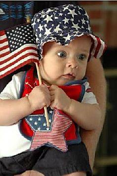 4th of July tiny patriot