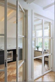 case e interni - cucina - parete vetro