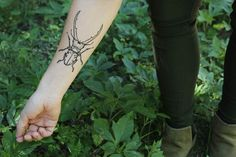 Stag Beetle TEMPORARY TATTOO