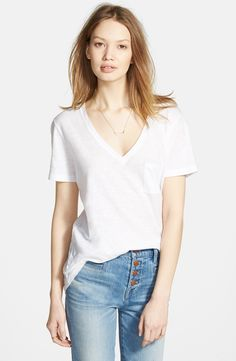 Madewell Slub Pocket V-Neck Tee