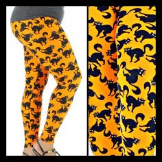 Meow Halloween Leggings for Grown Ups  At Restless Leggings Syndrome on Facebook  And shipped for less than $20