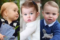 The Royal Cambridge Baby's First Birthday Photographs ~ (L to R) Prince George, Princess Charlotte and Prince Louis. Catherine, Duchess of Cambridge photographed her children. Prince William Family, Prince William And Catherine, Prince Charles, Princesa Diana, Lady Diana, Kate Middleton, Prinz Georges, Royal Family Portrait, Prince George Alexander Louis