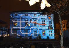 Place du Chapitre Projections d'images Noël 2015 Nîmes