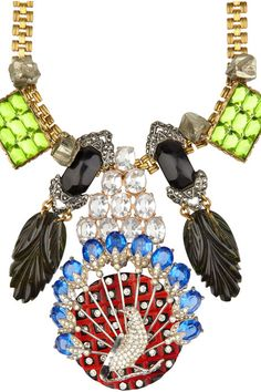 LULU FROST 100 YEAR COLLECTION  | Lulu Frost 100 Year embellished brass necklace « Jewelry Trends