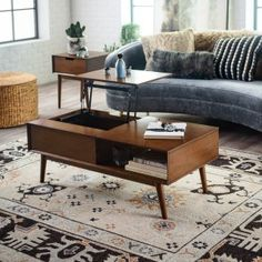 Complete your living space with the Belham Living Campbell Mid Century Modern Lift Top Coffee Table . This mid-century coffee table features a partial. Corner Dining Set, Corner Seating, Living Room Table Sets, Living Spaces, Living Rooms, Industrial Console Tables, Traditional Dining Tables, Mid Century Coffee Table, Glass End Tables