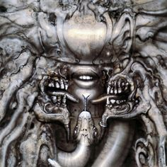 Hr Giger Li II Art fabric Poster Wall Decor 22 x 13 inch 170