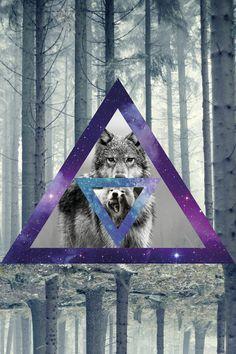 Wolf Wallpaper, Tumblr Wallpaper, Wallpaper Pictures, Hipster Vintage, Hipster Art, Wolf Spirit, Spirit Animal, Hipster Triangle, Galaxy Wolf