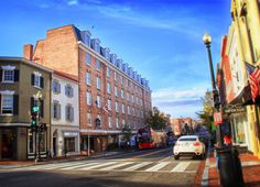A tradition in hotel elegance and sophistication, The Georgetown Inn represents classic Washington, DC with an air of nostalgic Georgetown glamour Georgetown Washington Dc, Washington Dc Hotels, Street View, Conditioning, Explore, Flat Screen, City, Rooms