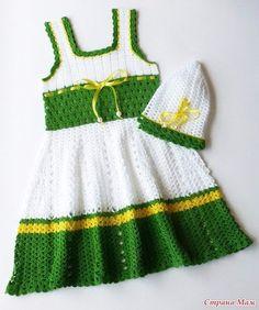 Delicadezas en crochet Gabriela: Vestido de bebé con patrones y paso a paso