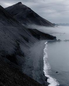 Eastern coast of Iceland. #iceland #fog