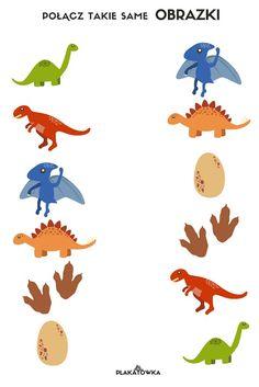 karty pracy przedszkolaka Dinosaur Worksheets, Dinosaur Activities, Color Activities, Educational Activities, Toddler Activities, Preschool Activities, Preschool Worksheets, Preschool Learning, Free Handwriting Worksheets
