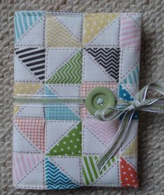 TiaraHelen: Stampin Up tea for two fabric notebook cover
