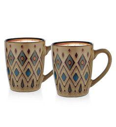 Dorren Crook Gray Ceramic Milk Mug (2 Pcs) by Dorren Crook Online - Geometric Patterns - Kitchen & Dining - Pepperfry Product