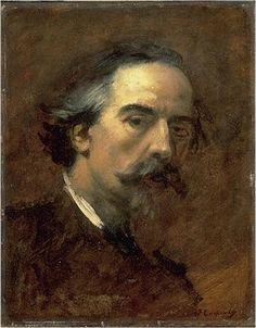 J.-Baptiste Carpeaux (1827-75) : Autoportrait de fiançailles (1869 - Valenciennes)
