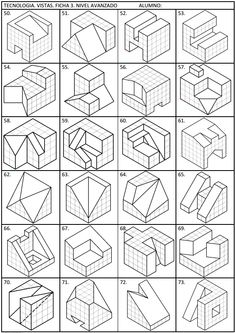 Steps for Portrait Drawing with Charcoal - Drawing On Demand Drawing Practice, Drawing Skills, Drawing Techniques, Isometric Drawing Exercises, Isometric Art, Orthographic Drawing, Geometric Construction, Cube Design, Autocad