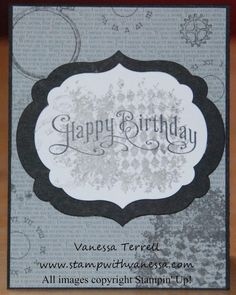 Stamp with Vanessa - birthday card made using Clockworks and Perfectly Penned!
