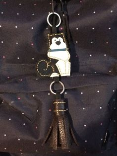 #Keychain # Dog # Leather