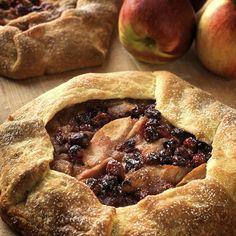 Rustic, wonderfully yummy Apple Cranberry Galette.