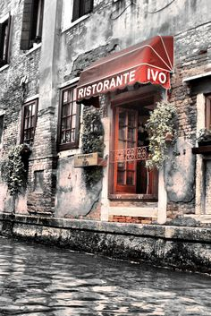 "This is stunning on Canvas! ""Ristorante on the Canal"" by Greg Sharpe, via 500px."