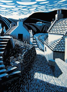 Original lino prints by Scottish Artist Bryan Angus
